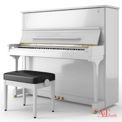 Steinway Sons K 132 Upright Piano High Polish White