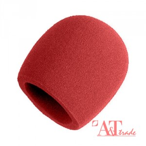 Jooks Microphone Foam Covers Sponge Foam Mic Cover Handheld Stage Microphone Windscreen Foam Cover Inside Diameter 35mm Red